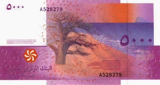 Стильным дизайном своих банкнот прославились Коморские острова. в Индийском океане, между Мадагаскаром и Мозамбиком.  Главные денежные персонажи здесь — цветы и животные. Казалось, ничего интересного, животные нам уже встречались. Особенность здесь в другом.   Коморский франк покоряет своей цветовой гаммой. Например, банкнота в 1000 франков: желтый песчаный берег, синее море, небо, пылающее в пламени заката, и одинокое растущее на пляже дерево — что может быть романтичнее? #деньги #купюры…
