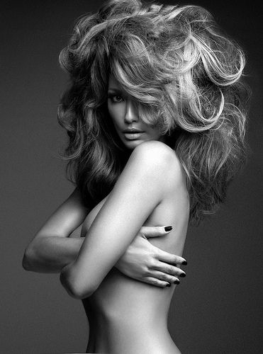 it is all about beautiful big hair - highlights curls blown out glamour fashion portrait