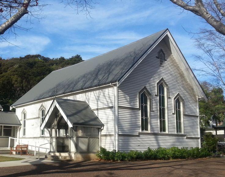 Trinity Presbyterian Church at Akaroa, Canterbury, New Zealand.