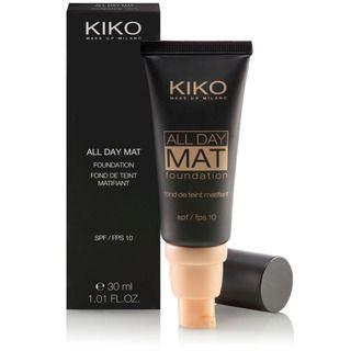 KIKO MAKE UP MILANO: All Day Mat Foundation - Base anti-brilho para controlo de sebo com FPS 10