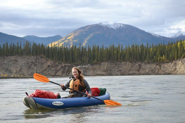 Kayaking on the Pelly River, Yukon - Photo by Bjorn Dihle