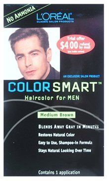 LOREAL Color Smart Haircolor for Men Medium Brown (One Application) by L'Oreal Paris ** See this great product. (Amazon affiliate link)