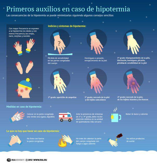 Primeros auxilios en caso de #hipotermia