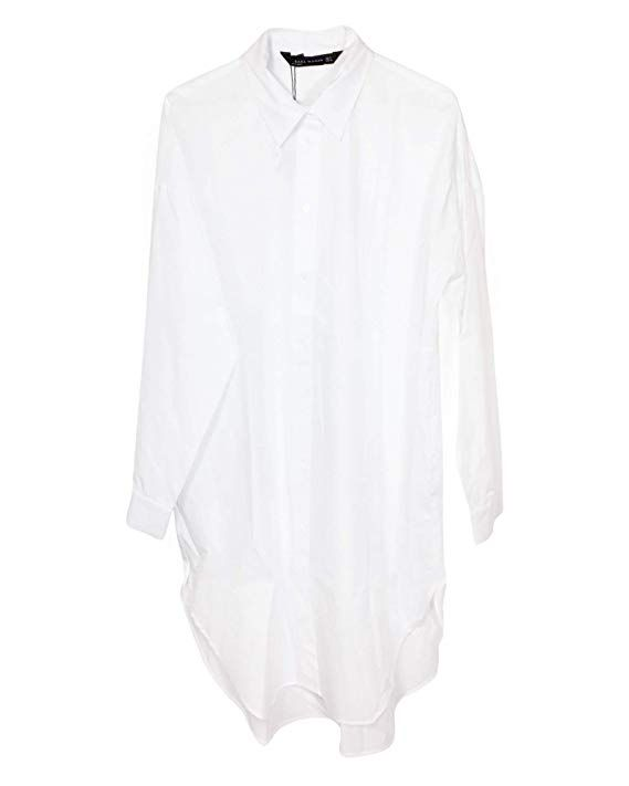 Zara Women Oversized Poplin Shirt 9479 261 X Small White Zara Fashion Women Poplin Shirt Zara Women