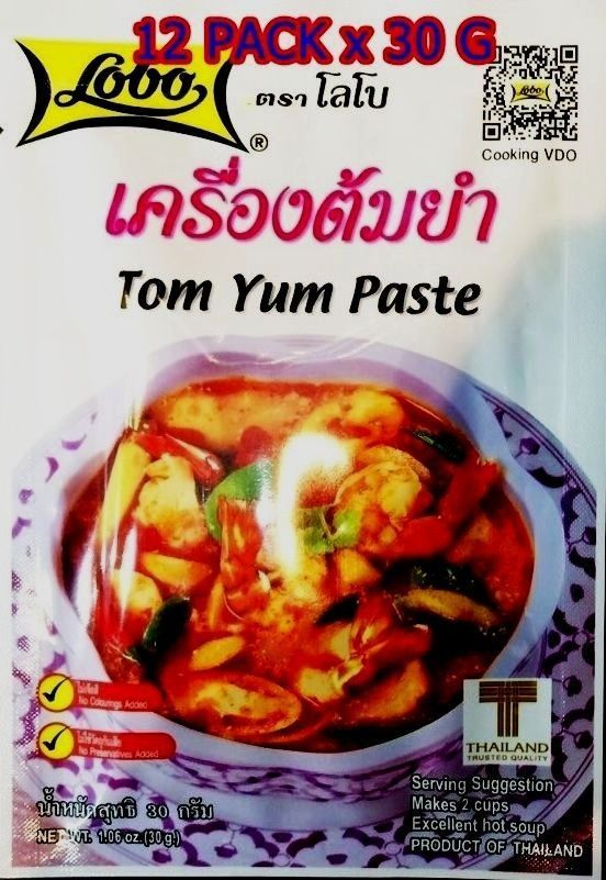Tom Yum Paste LOBO Foods Hot Spicy Soup Thai Herb Cooking Instant  Delicious 30g #Lobo