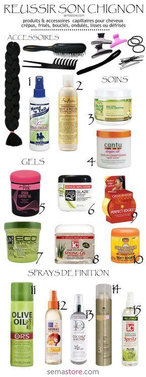 Dénichez des produits coiffants pour cheveux crépus à lisses pour réaliser e…