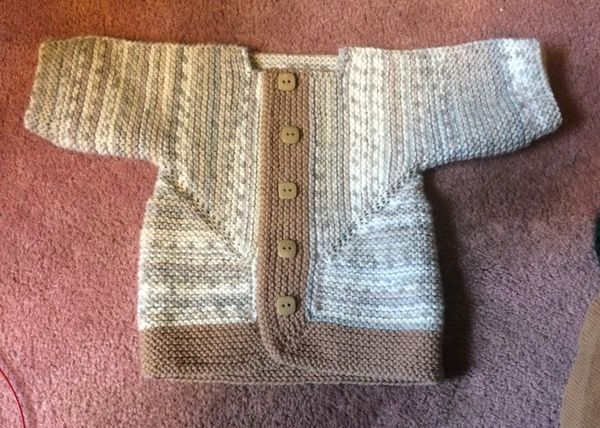 New sweater for new great grandson