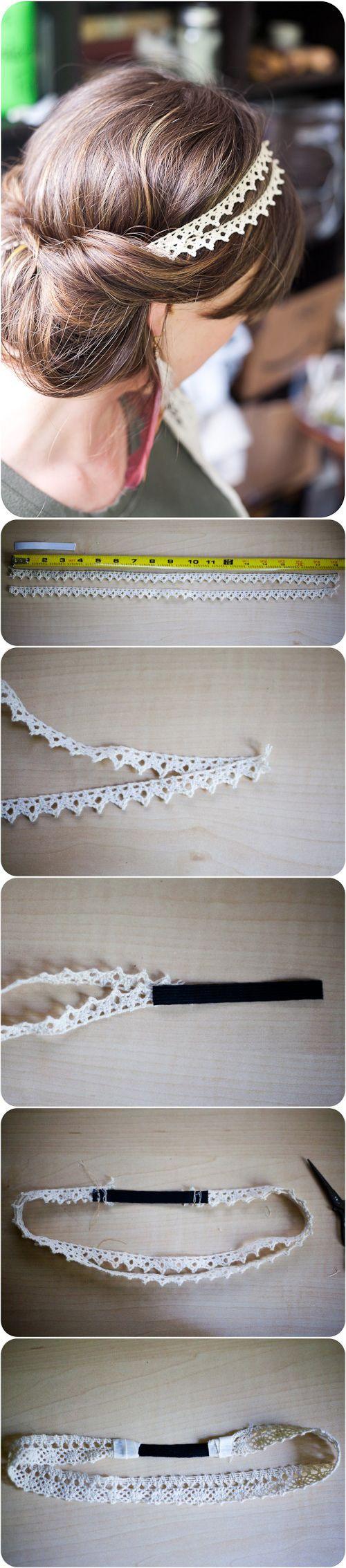 fabriquer headband tuto DIY