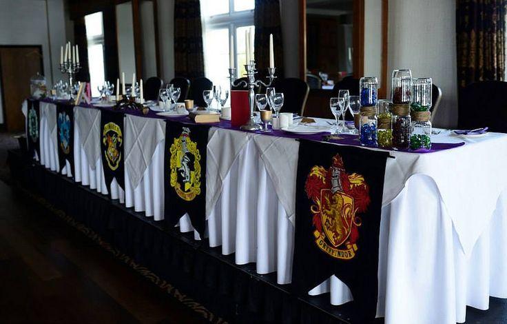 Teachers table at this Scottish Harry Potter wedding on @offbeatbride