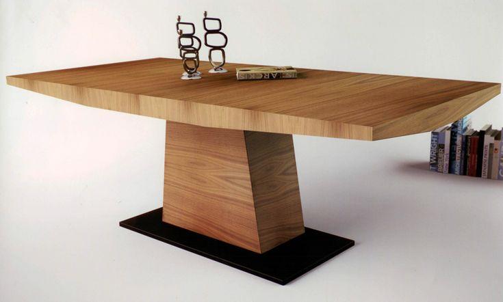 Mesa de comedor dise o nico mesa de comedor de madera pata central varias medidas fija 200 x - Mesa madera diseno ...