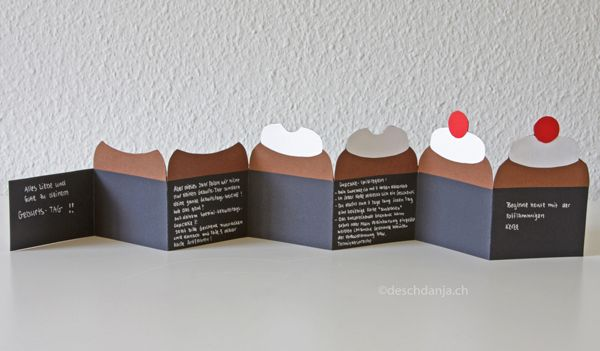 How to make a cupcake leporello birthday card.