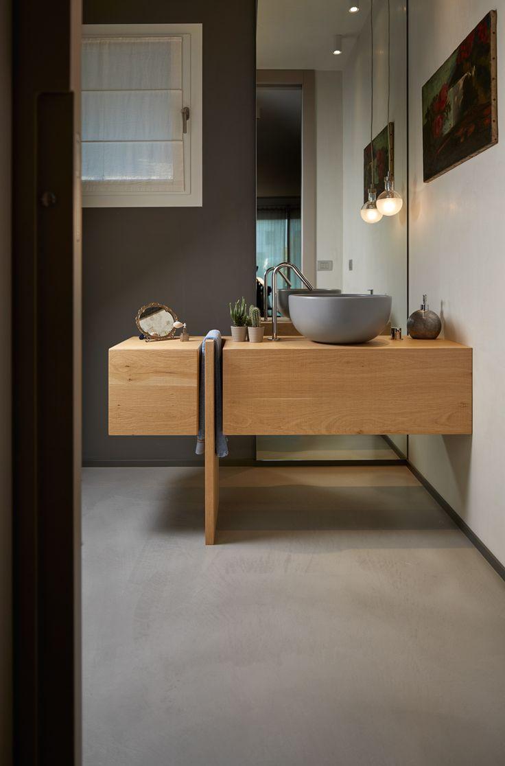 Bagno in #Microtopping: per uno spazio di #design, pulito, luminoso e anche…