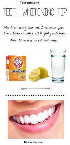 Teeth Whitening Tip Items Needed: 3 tsp. baking so…