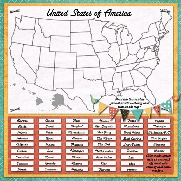 Best Disney Vacay Images On Pinterest - Map license plate us