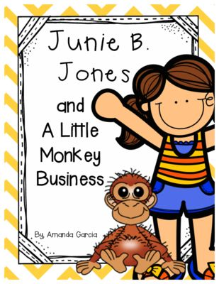 Junie B. Jones and a Little Monkey Business: Complete Unit of Reading Responses from Amanda Garcia on TeachersNotebook.com -  (20 pages)  - With this unit, your readers complete one reading response activity after each chapter. The responses vary by day and are always aligned to the CCSS!