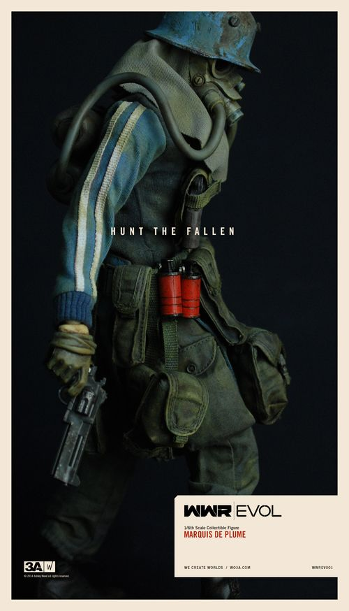 "REVEALED: threeA's ""WWR Evol: Marquis De Plume"" 1/6th scale figure with 3AA Exclusive Prey Box!"