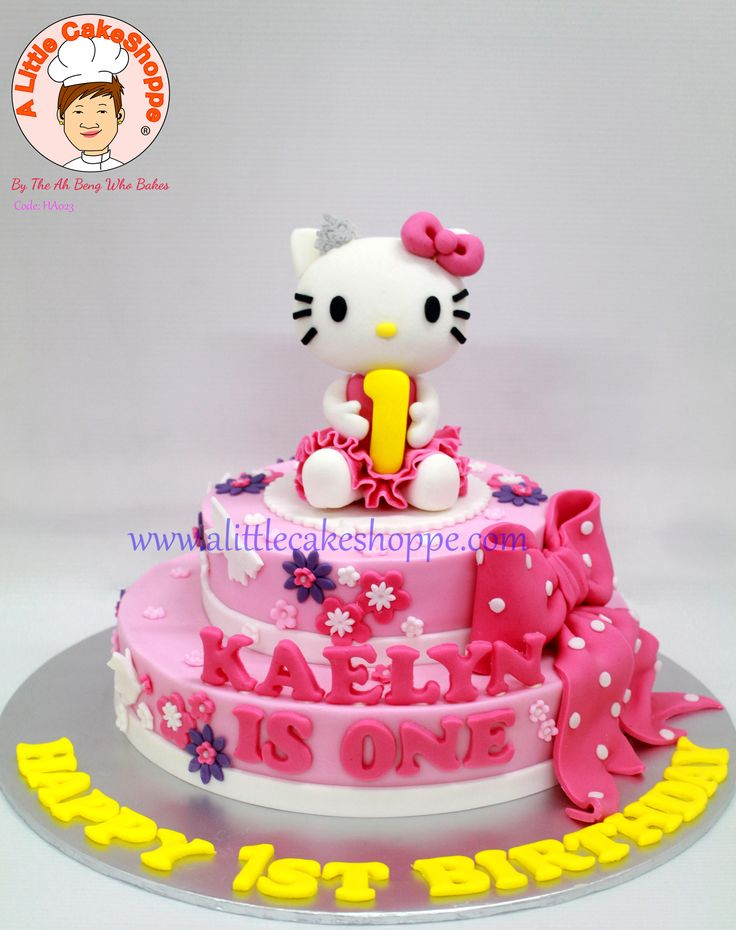 Code: HA023  For enquiries, please email to info@alittlecakeshoppe.com  www.alittlecakeshoppe.com Instagram - instagram.com/alittlecakeshoppe Pinterest - pinterest.com/ALCSingapore  #HelloKitty #CustomCakes #ALittleCakeShoppe #Singapore #Customised #Birthday #Cakes