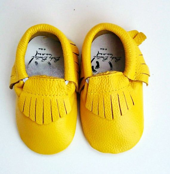 Price has dropped! Only $16.99 a pair!  https://www.etsy.com/ca/listing/261404193/baby-bright-mustard-yellow-leather
