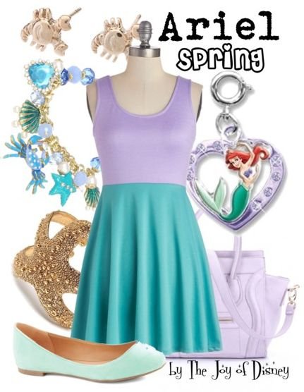 Affordable Spring outfit inspired by Ariel from The Little Mermaid!