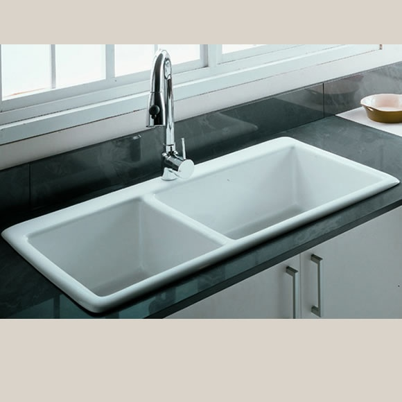 Gourmet Large Double Bowl Ceramic Kitchen Sink For the Home ...