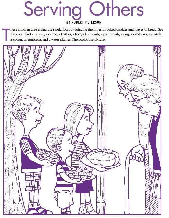 Children Helping Others Coloring Pages Lds Games Find And Color Serving Others Coloring Pages Love Languages For Kids Helping Kids