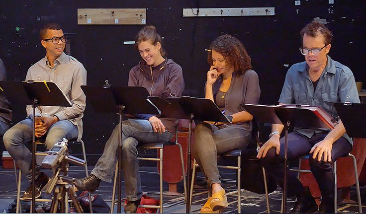 First Rehearsal Cast pics for THOMAS AND SALLY! (Featuring L-R: William Hodgson, Rosie Hallett, Tara Pacheco, Mark Anderson Phillips)