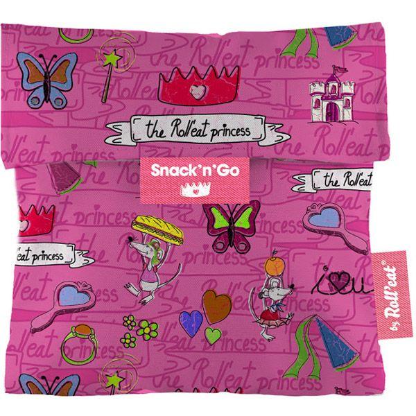 Sac à gouter Snack'n'Go Princesse Rose Roll Eat   Acheter sur Greenweez.com