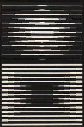 Victor Vasarely / Capella 4B / 1965 / tempera on composition board, in two parts