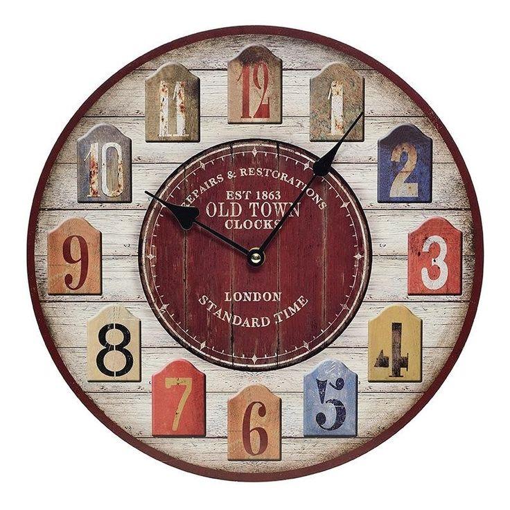 Ρολόι Τοίχου Old Town 34εκ INART
