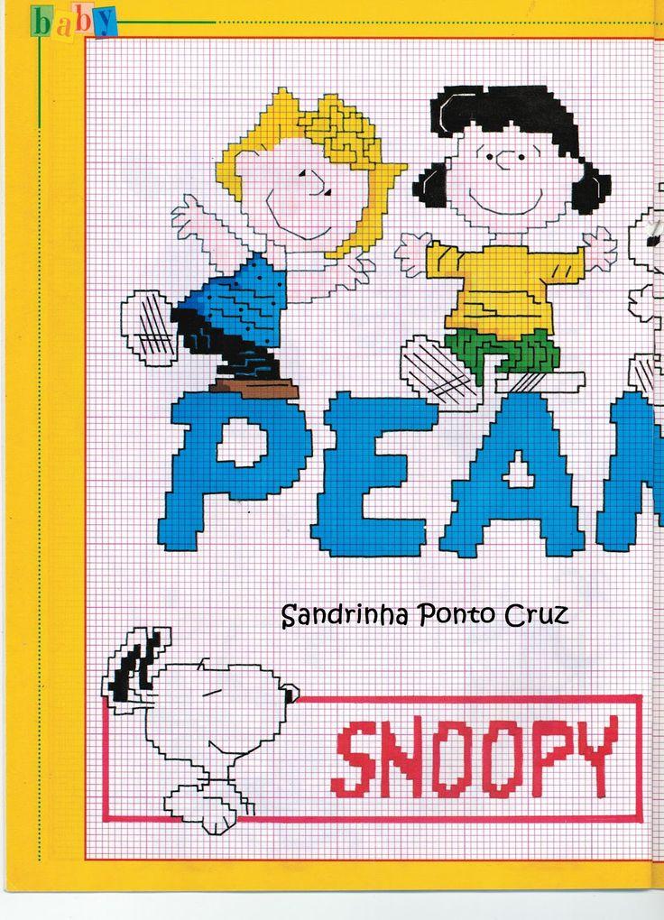 Peanuts 1 of 2 free cross stitch chart
