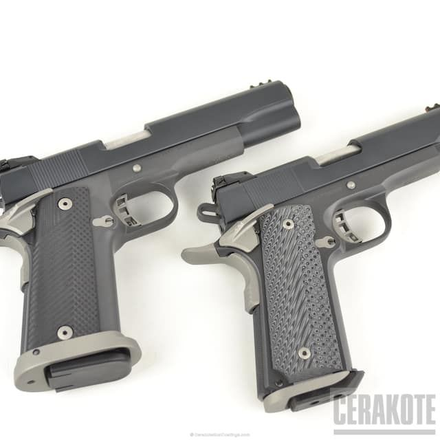 E-120 Smoke, E-110 Midnight and H-170 Titanium Rock Island Armory, 1911