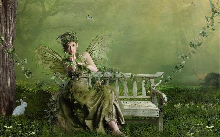 .: Wallpapers Art, Green Natural, Photo Manipulation, Photomanipul, Fairies Art, Magic Creatures, Fairies Pictures, Pixie, Gardens Fairies