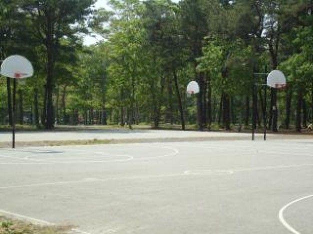 Terrain De Basket En Plein Air Télécharger Des Photos