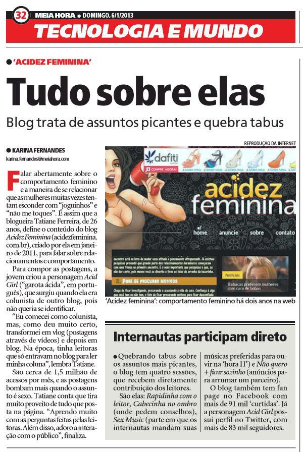 Taty Ferreira, Acidez Feminina Meia Hora
