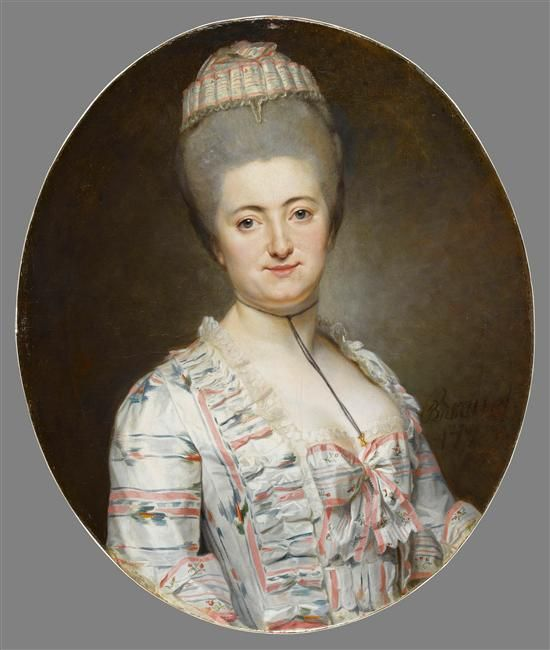 Portrait of a woman by an unknown artist, 18th...