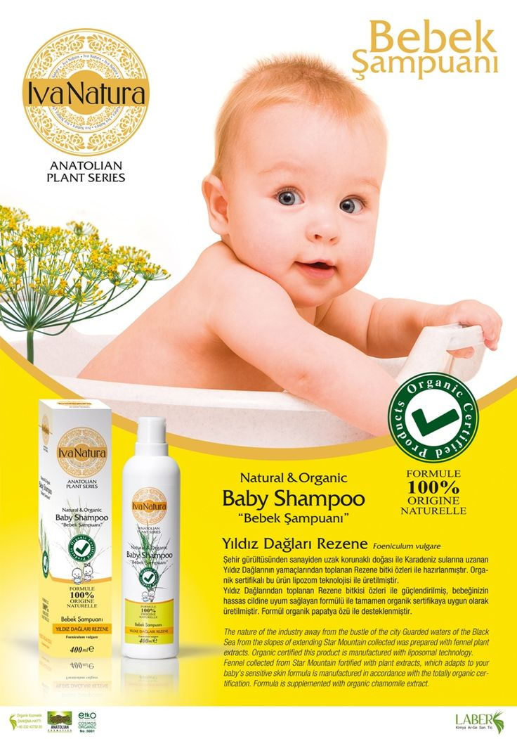 Organic baby shampoo from Yıldız Mountain