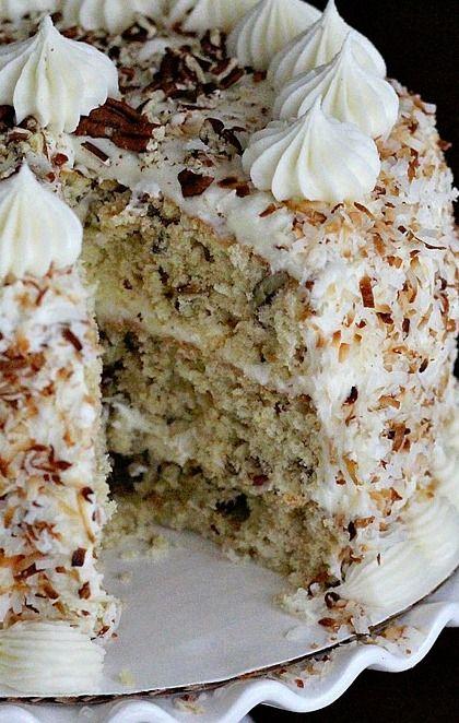 Italian Cream Cake...despite the name, it's actually a Southern USA dish!