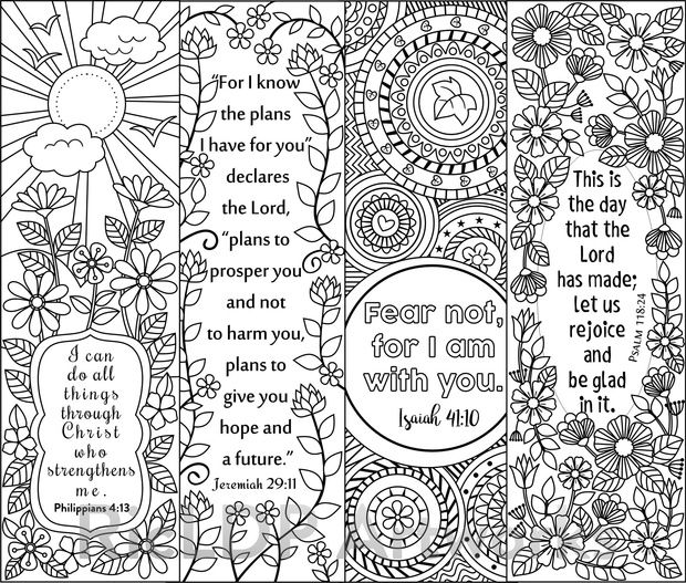 photograph about Free Printable Inspirational Bookmarks to Color known as 8 Bible Verse Coloring Bookmarks coloring bookmarks