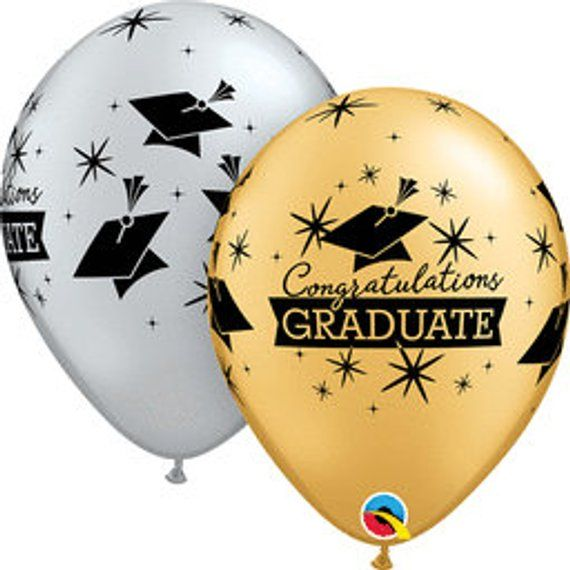 5 CT Graduation Latex Balloons/ Graduation Balloons/ Graduation Party Balloons/ Graduation Decor