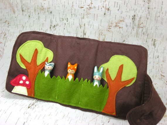 Forest Friends Roll Up and Play Mat woodland roll by Gnomewerkspdx