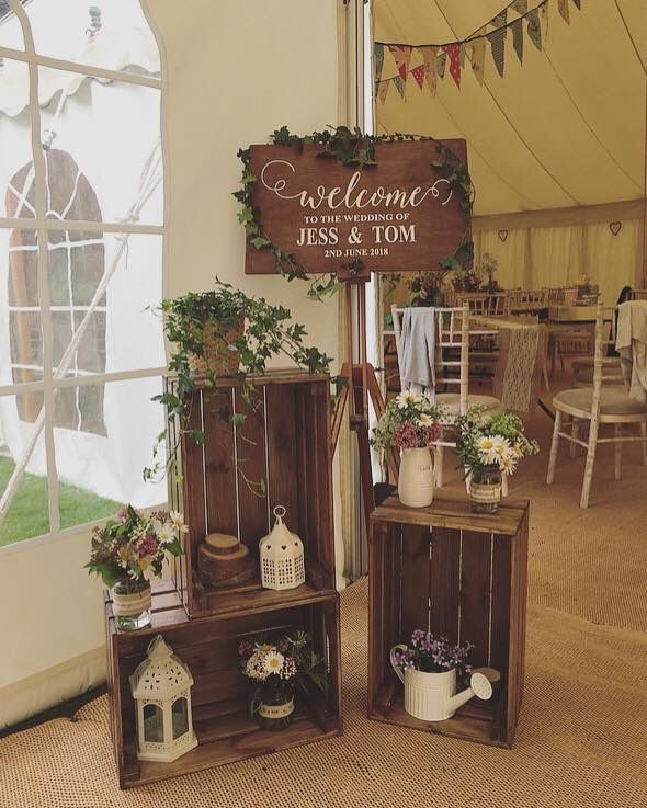 Welcome To Our Wedding Display Deco Mariage Decoration Table Mariage Mariage Rustique