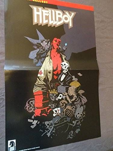 cool HELLBOY Promo Poster, 2014, Unused, Mike Mignola, In Hell, more in our store