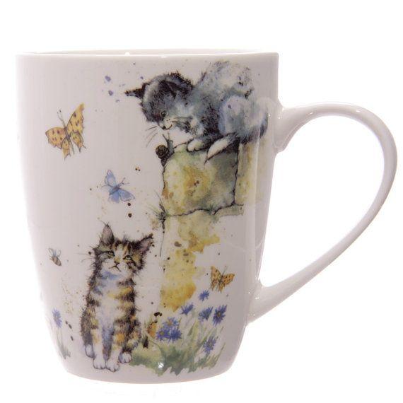 Coffee Mug Cute Cat Illustration Design New Bone by getgiftideas