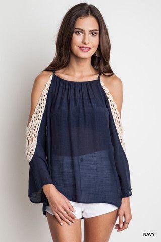 Crochet Cold Shoulder - Chic Boutique