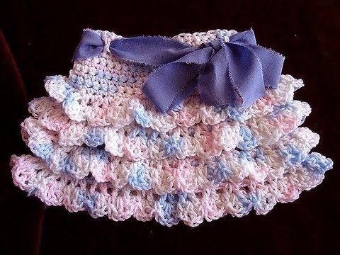 crochet RUFFLED SKIRT, how to diy, make it any size, baby to adult, swing skirt, shells, - YouTube