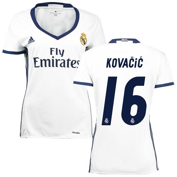 ... Kovacic Real Madrid adidas Womens 201617 Home Replica Jersey - White -  71.24 16 Womens Mateo Kovacic Real Madrid CF Soccer Jersey Grey Away  Authentic ... 18c78607e