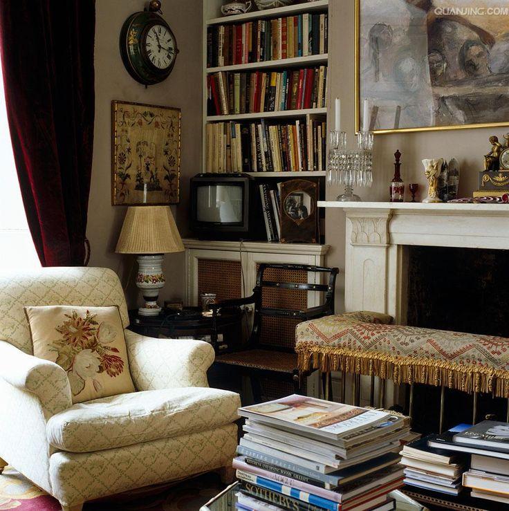 Drawing room of Lord Snowdon's in London.