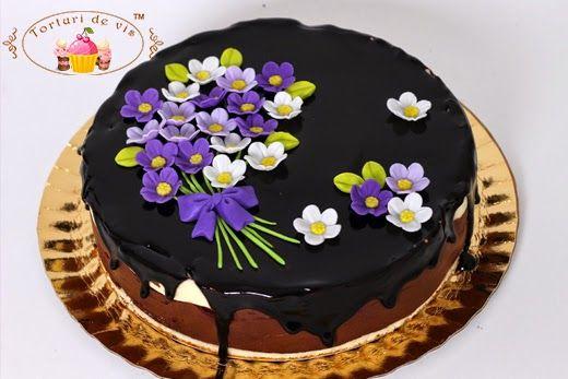 Tort mousse de ciocolata neagra cu portocale