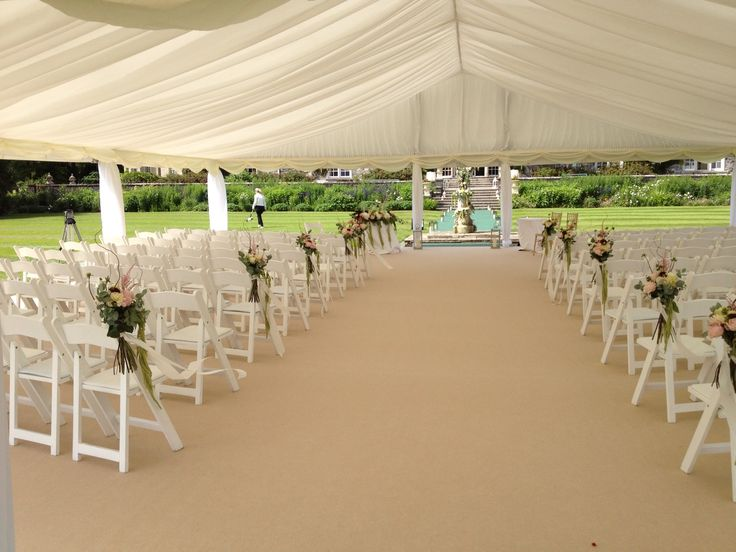 Wedding Ceremony Marquee At The Stunning Luttrellstown Castle Www Pavilionmarquees
