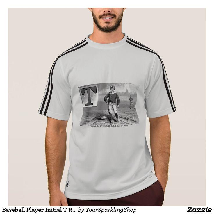 #Baseball Player Initial T Rhyme #Vintage Third Base #Shirt
